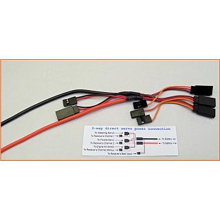 1/5 RC Direct Power Servo Harness 3 servos  OZ Made