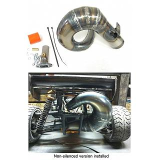 Rear Mount BIG BORE Pipe SILENCED Victory RC fit HPI Baja FD215