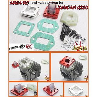 REED Valve System by Area RC fit Zenoah G320RC Engine