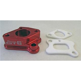 Carby Intake Manifold RED Alloy  by GTB Racing GR030