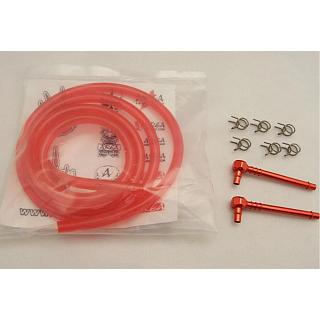 High Flow Fuel Kit Red Alloy & Red Fuel Line