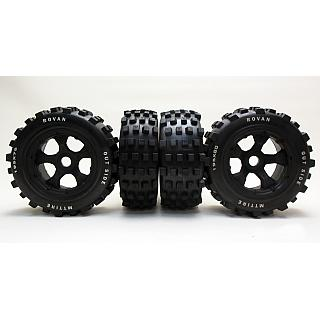 5T SC Knobby Tyres & 5 Spoke Wheels MT MX LT