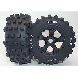 Knobby Tyres & 5 Spoke Wheels Rear Baja 5T & F/R Losi LT X2 DTT