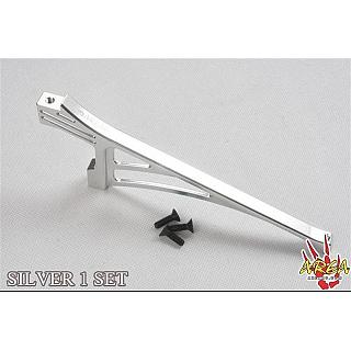 Front Chassis Brace (1) V2 Silver by Area RC 5T LT X2 L001