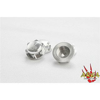 Losi5 Wheel Nuts Enclosed (4) Silver Billet 5ive&DBXL L030