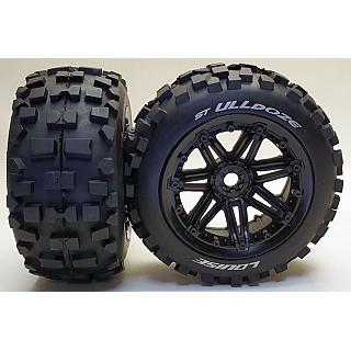 Louise 1/8 Rear ST-Ulldoze Wheels & Tyres 2pcs fit 17mm Hex Trax