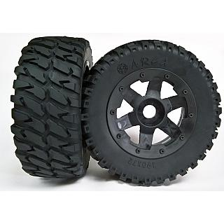 6 Spoke Wheels & Area RC Heavy Duty Belted off Road Tyres for Lo