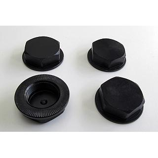 Baja Enclosed Wheel Nuts (4) Alloy CNC BLACK F5M