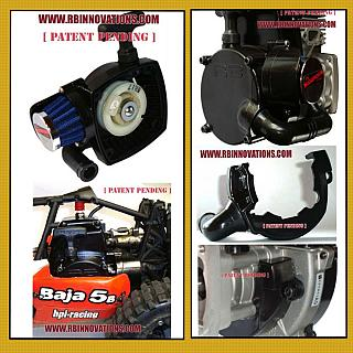 Baja Pull Start Filter System Blue  by RB Innovations