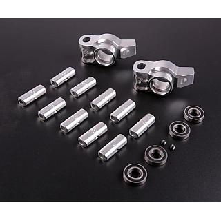 1/5 Baja Adjustable Rear Hubs Mount Billet & Bearings Set Silver