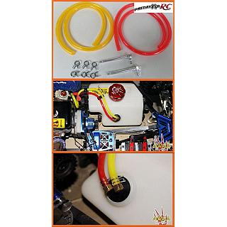 High Flow Fuel Line Kit  Alloy & Red / Yellow Fuel Line