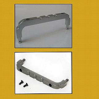 Baja Roll Cage Front Support (over RX/Batt Box) ALLOY Silver