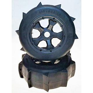 LT 5T SC Sand Paddle Tyres on 5 spoke Wheels 190x70