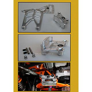 Rear Upper Chassis Plate Silver & 1 pce Brake Mount Combo