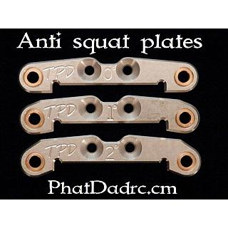 Anti Squat Plate (1) 1° Deg. V2 by Phatdad RC Silver