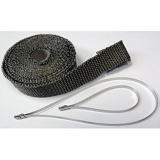 Titanium Hi Temp Exhaust Pipe Wrap Heat Sealing Tape 25mm x 4.