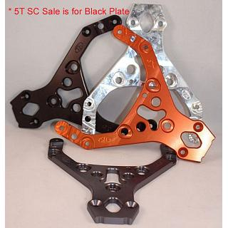 Clearance 5T SC Front Upper Chassis Plate HD BLACK Turtle Racing
