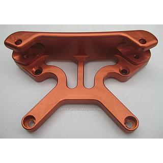 5B 5T SC Front Shock Mount Tower Combo by Turtle Racing Orange
