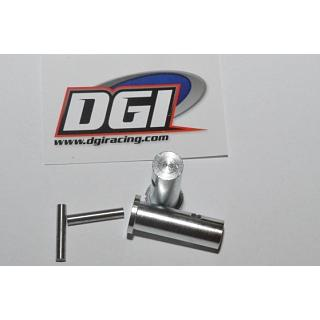 DGI Racing Clip-Less Front Wheel Extender Adaptors for HPI Baja
