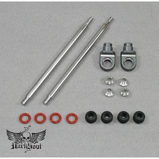 Shock Shafts Set FRONT silver by DarkSoul for HPI Baja 5B 5T SS