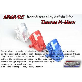 TRAXXAS X-MAXX Diff Shell  Front or Rear Alloy Silver by Area RC