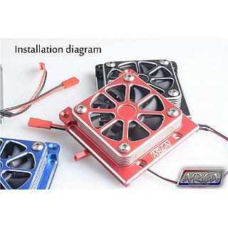 TRAXXAS X-MAXX Motor Cooling Fan High Output RED