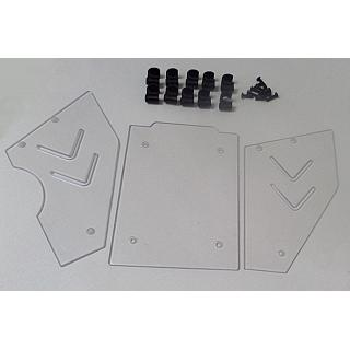 Windshield and Side Windows 3 piece Kit Clear