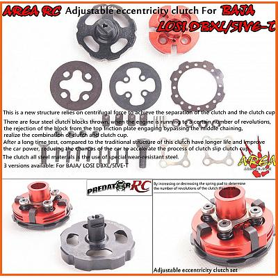 Losi 5T & LT Eccentricity Adjustable Clutch by Area RC