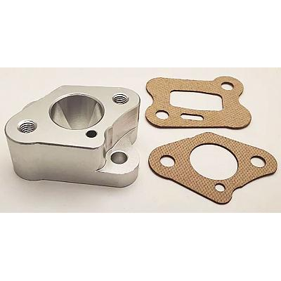 30°N Intake Manifold Billet Silver & Carbon Fibre Gaskets for 26 1