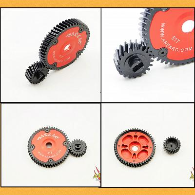 20/51 Helical Spur Gear & Pinion RED by Area
