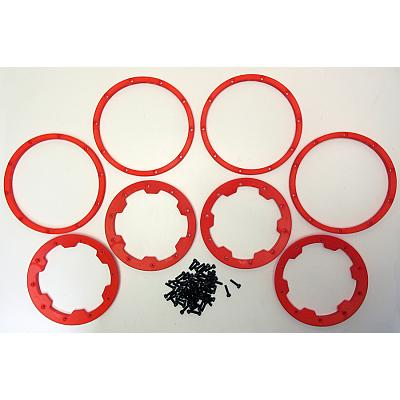1/5th Baja Beadlock set Inner & Outer RED 1