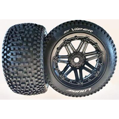 Louise 1/8 ST-Viper Truggy  Wheels & Tyre (2) 17mm Trax Arrma 1