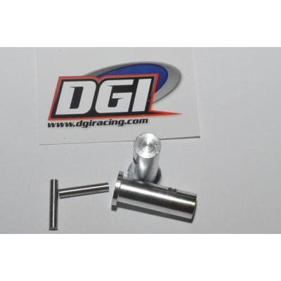 DGI Racing Clip-Less Front Wheel Extender Adaptors for HPI Baja  1